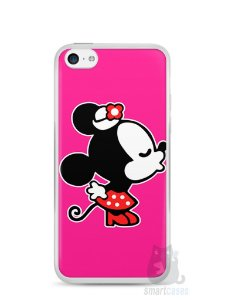 Capa Iphone 5C Mickey e Minnie Beijo