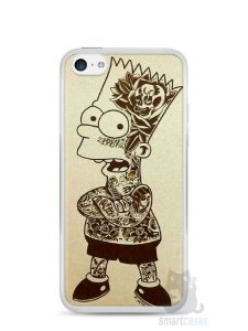 Capa Iphone 5C Bart Simpson Tatuado