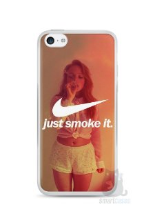 Capa Iphone 5C Just Smoke It