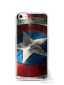 Capa Iphone 5C Escudo Capitão América
