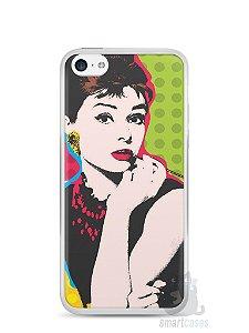 Capa Iphone 5C Audrey Hepburn #3