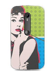 Capa Moto G3 Audrey Hepburn #3