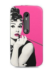 Capa Moto G3 Audrey Hepburn #4