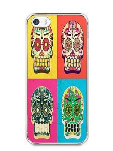 Capa Iphone 5/S Caveiras Coloridas