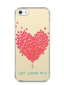 Capa Iphone 5/S Deixe o Amor Voar