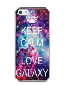 Capa Iphone 5/S Keep Calm and Love Galaxy