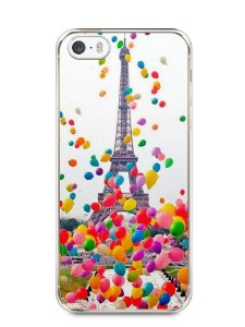 Capa Iphone 5/S Torre Eiffel e Balões