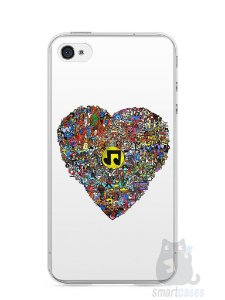 Capa Iphone 4/S Coração Personagens