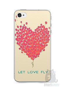 Capa Iphone 4/S Deixe o Amor Voar