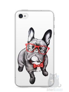 Capa Iphone 4/S Cachorro Bulldog Francês Estiloso