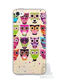 Capa Iphone 4/S Corujas Coloridas