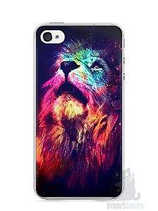 Capa Iphone 4/S Leão Colorido #3