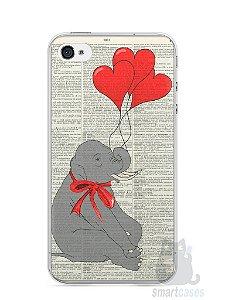 Capa Iphone 4/S Elefante e Corações