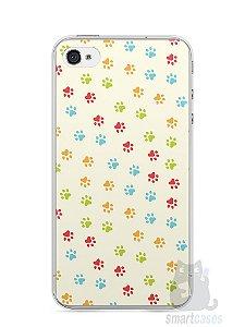 Capa Iphone 4/S Patinhas Coloridas #2