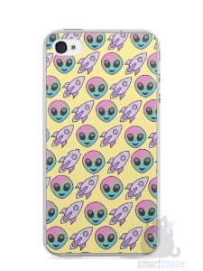 Capa Iphone 4/S Aliens e Foguetes
