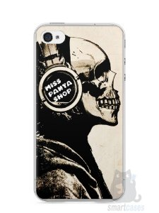 Capa Iphone 4/S Caveira Music