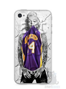 Capa Iphone 4/S Marilyn Monroe Lakers