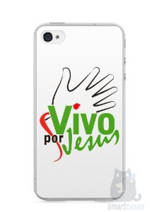 Capa Iphone 4/S Vivo Por Jesus
