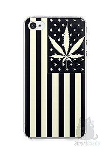 Capa Iphone 4/S Maconha Bandeira EUA