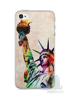 Capa Iphone 4/S Estátua da Liberdade Colorida