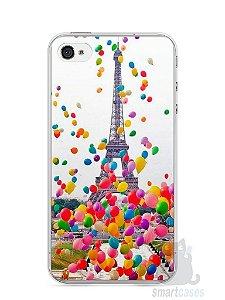 Capa Iphone 4/S Torre Eiffel e Balões