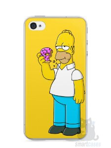Capa Iphone 4/S Homer Simpson Comendo Donut