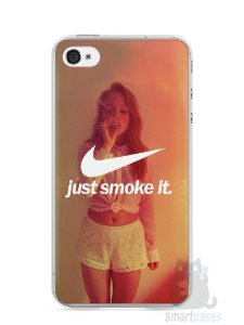 Capa Iphone 4/S Just Smoke It