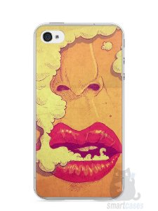 Capa Iphone 4/S Smoking Weed