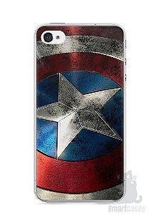 Capa Iphone 4/S Escudo Capitão América