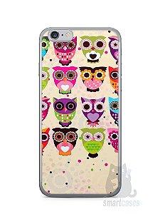Capa Iphone 6/S Corujas Coloridas