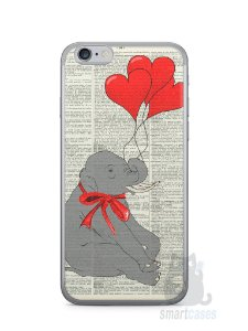 Capa Iphone 6/S Elefante e Corações