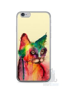 Capa Iphone 6/S Gato Pintura