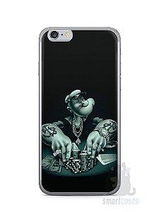 Capa Iphone 6/S Popeye Jogando Poker