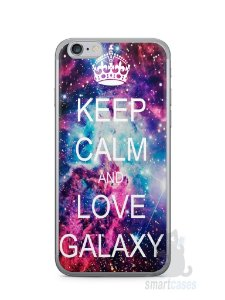 Capa Iphone 6/S Keep Calm and Love Galaxy
