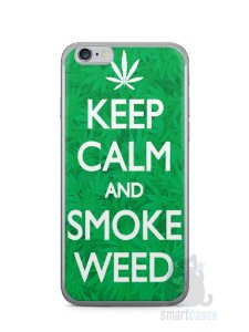 Capa Iphone 6/S Keep Calm and Smoke Weed