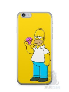 Capa Iphone 6/S Homer Simpson Comendo Donut