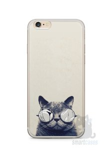 Capa Iphone 6/S Plus Gato Com Óculos
