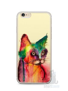 Capa Iphone 6/S Plus Gato Pintura
