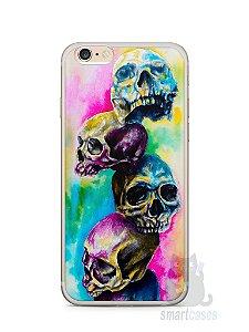 Capa Iphone 6/S Plus Caveiras Coloridas Pintura