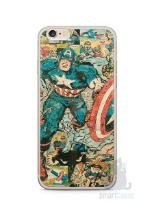 Capa Iphone 6/S Plus Capitão América Comic Books #1