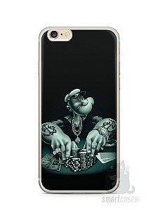Capa Iphone 6/S Plus Popeye Jogando Poker