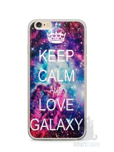 Capa Iphone 6/S Plus Keep Calm and Love Galaxy