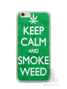Capa Iphone 6/S Plus Keep Calm and Smoke Weed