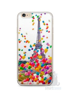 Capa Iphone 6/S Plus Torre Eiffel e Balões