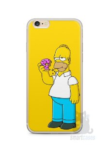 Capa Iphone 6/S Plus Homer Simpson Comendo Donut