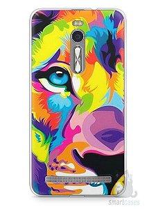 Capa Zenfone 2 Leão Colorido #1