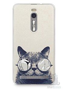 Capa Zenfone 2 Gato Com Óculos