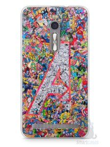 Capa Zenfone 2 The Avengers Comic Books