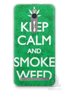 Capa Zenfone 2 Keep Calm and Smoke Weed