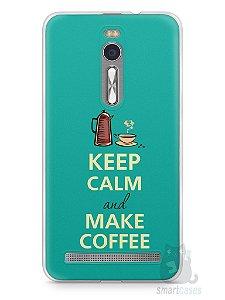 Capa Zenfone 2 Keep Calm and Make Coffee